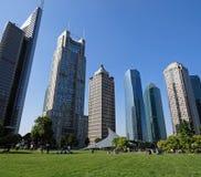 Zaken die Shanghai China bouwt Royalty-vrije Stock Afbeelding