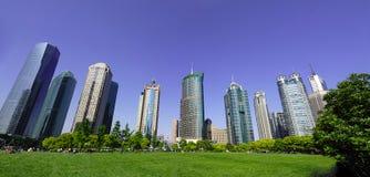 Zaken die Shanghai China bouwt Stock Afbeelding