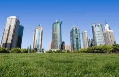 Zaken die Shanghai China bouwt Stock Fotografie