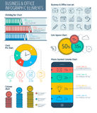 Zaken en bureau Infographic Royalty-vrije Stock Fotografie