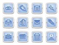 Zaken en de reeks van het bureaupictogram Stock Afbeelding