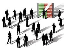 Zaken en financiën stock illustratie