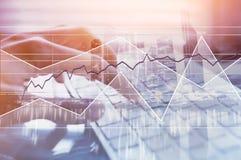 Zaken en financiën, moderne technologieën, forex achtergrond stock foto's