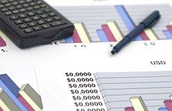 Zaken en financiën-ondiepe dof Royalty-vrije Stock Fotografie