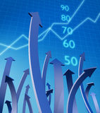 Zaken en financieel de groeiconcept Royalty-vrije Stock Fotografie