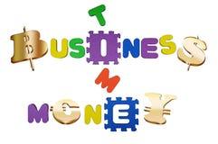 Zaken en geld. Stock Foto's