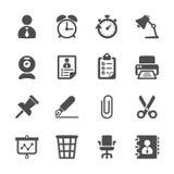 Zaken en het pictogramreeks van het bureauwerk, vectoreps10 Stock Foto's