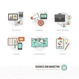 Zaken en Marketing vector illustratie