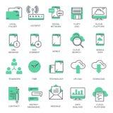 Zaken en marketing, programmering, gegevensbeheer, Internet-verbinding, sociaal netwerk, gegevensverwerking, informatie vector illustratie