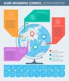 Zaken en school Infographic Stock Fotografie