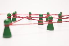 Zaken en sociaal voorzien van een netwerk - conceptueel beeld Stock Fotografie