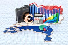 Zaken, handel en financiën in het concept van Nederland, 3D aangaande Royalty-vrije Stock Fotografie