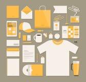 Zaken, het collectieve ontwerp van het identiteitsmalplaatje Kantoorbehoeften, reclame, marketing concept Vector illustratie stock illustratie