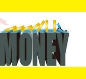 Zaken: Het geldspel is altijd gevaarlijk stock illustratie