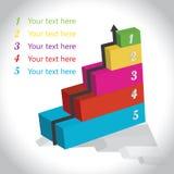 Zaken infograph Royalty-vrije Stock Foto