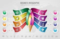 Zaken Infographic Royalty-vrije Stock Foto
