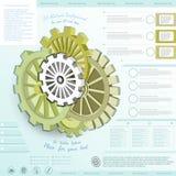 Zaken infographic met mechanische stijl Stock Afbeeldingen