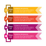 Zaken infographic met pictogrammen lijn Bedrijfsdiagrammen, presentaties en grafieken Achtergrond Vector stock illustratie
