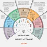 Zaken infographic voor succesproject en andere Uw variant Royalty-vrije Stock Foto's