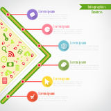 Zaken Infographics Royalty-vrije Stock Foto's
