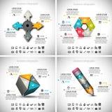 4 in 1 Zaken Infographics stock illustratie