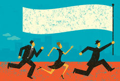 Zaken Leader stock illustratie