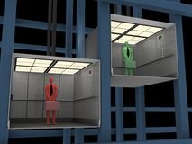Zaken - Lift stock illustratie