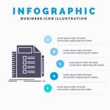 Zaken, lijst, plan, planning, het Malplaatje van taakinfographics voor Website en Presentatie GLyph Grijs pictogram met Blauwe in vector illustratie