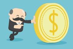 Zaken met de dollar royalty-vrije illustratie