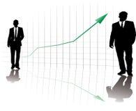 Zaken op de stijging vector illustratie