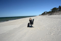 Zaken op het strand Stock Afbeeldingen