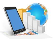 Zaken op mobiel Royalty-vrije Stock Foto's