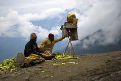 Zaken op wolken Stock Foto's