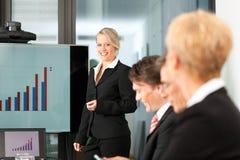 Zaken - presentatie binnen een team Stock Foto's