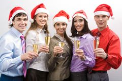 Zaken Santas Royalty-vrije Stock Foto