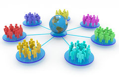 Zaken of sociaal netwerk. Concept. Stock Foto