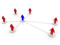 Zaken of sociaal netwerk. Concept. 3d geef illustratie terug Royalty-vrije Stock Foto's