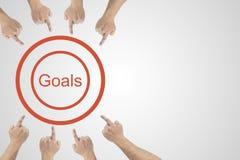 Zaken, succes, leiding, voltooiing en mensenconcept royalty-vrije stock afbeelding