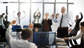 Zaken Team Achievement Success Goals Concept royalty-vrije stock foto