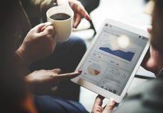 Zaken Team Brainstorming Data Target Financial Cocnept stock foto's