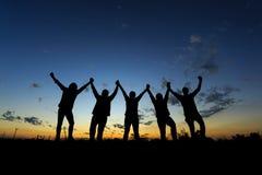Zaken Team Celebration Party Success Concept stock fotografie