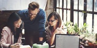Zaken Team Corporate Marketing Working Concept Royalty-vrije Stock Afbeelding