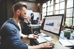 Zaken Team Corporate Marketing Working Concept Stock Afbeelding
