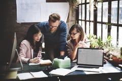 Zaken Team Corporate Marketing Working Concept Stock Foto