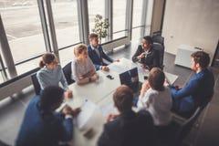 Zaken Team Empowerment Success Motivation Concept Royalty-vrije Stock Foto
