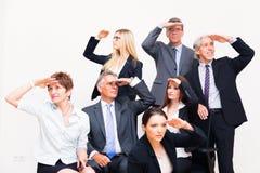 Zaken Team Looking In Different Directions stock foto's