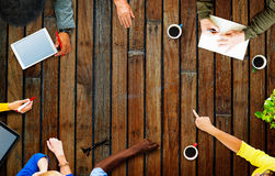 Zaken Team Planning Project Meeting Concept royalty-vrije stock foto