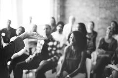 Zaken Team Seminar Listening Meeting Concept stock afbeeldingen