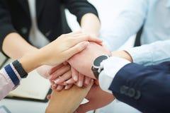Zaken Team Stack Hands Support Concept Stock Afbeelding