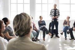 Zaken Team Training Listening Meeting Concept royalty-vrije stock afbeelding